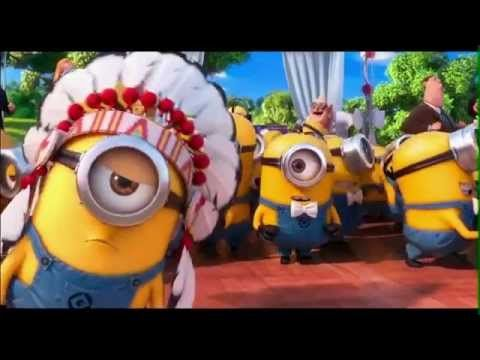 Despicable Me 2 , Minions Songs - YMCA ( GRU AND LUCY WEDDING SONG ) with Lyrics