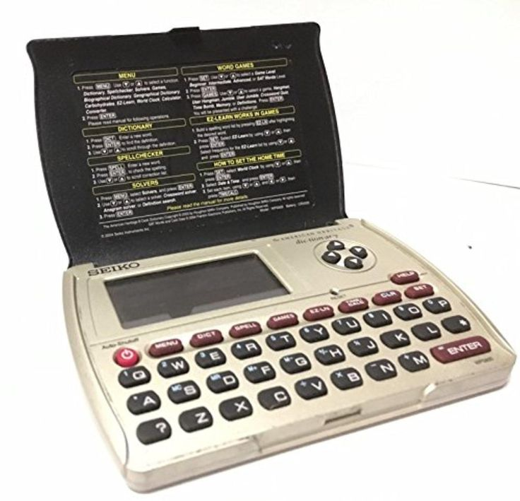 Seiko WP5600 Desk Dictionary W/ Spell Corrector American Heritage SAT Word List - Brought to you by Avarsha.com
