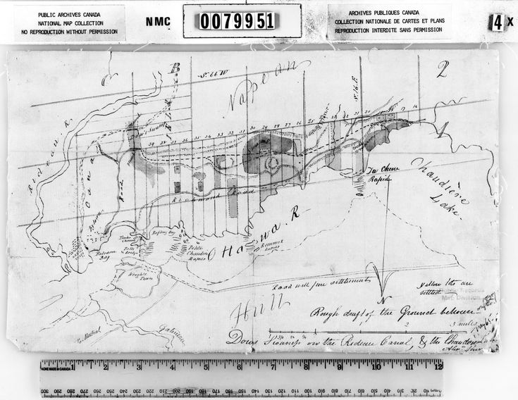 Bytown Ottawa plan 1827
