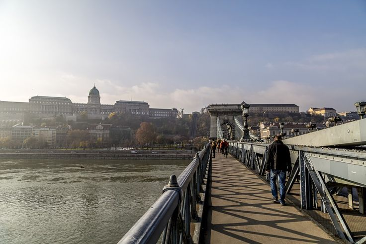 Crossing the Chain Bridge from Buda to Pest