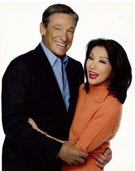 Image: Connie Chung with husband Maury Povich