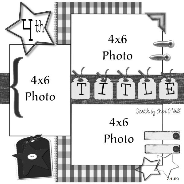 This is one cool scrapbook layout. I'm thinking maybe a Christmas one or a birthday one