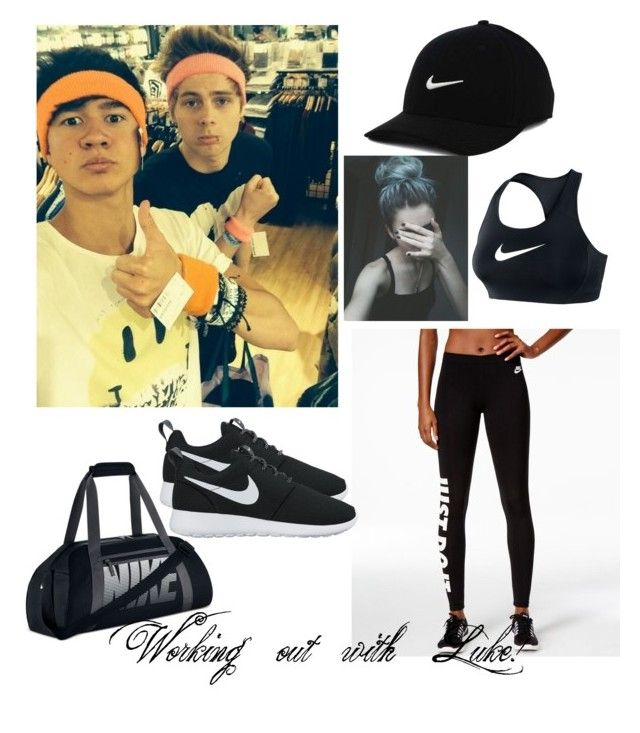 Working out by sabrina-carreiro on Polyvore featuring polyvore, fashion, style, NIKE and clothing