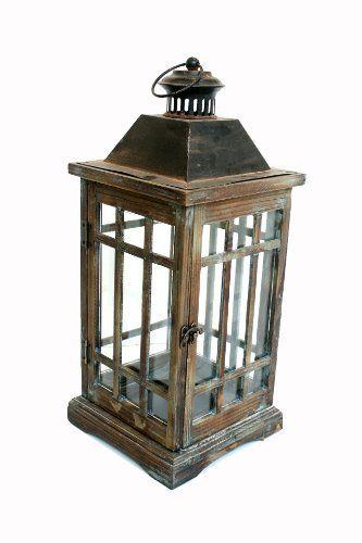 Nach fj 13 b5105 wooden lantern by north great for Wooden garden lanterns