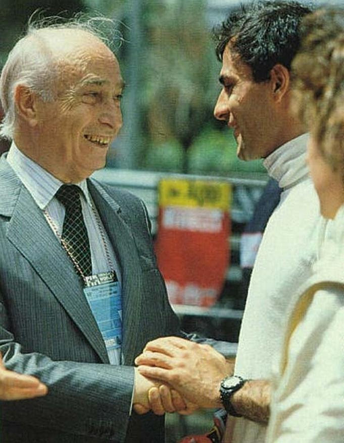With Juan Manuel Fangio