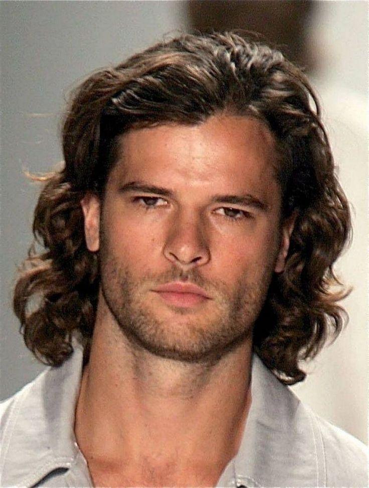 Attempt medium size for the best men hairstyles for thick curly hair men. Thick Curly Hair, Long Wavy Hair, Long Curly Hair, Long Hair Cuts, Men With Long Hair, Thin Hair, Haircuts For Long Hair, Hairstyles Haircuts, Haircuts For Men