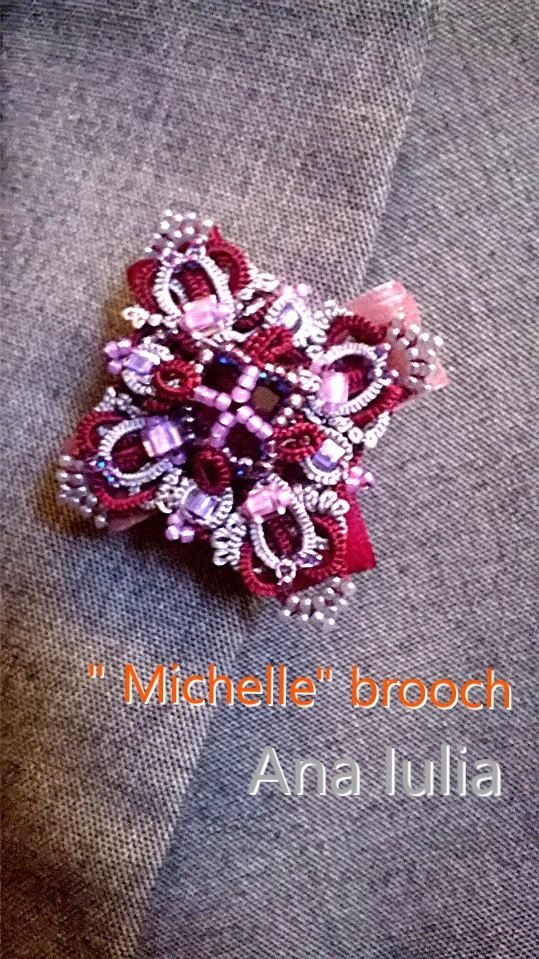 Michelle brooch Ankars tatting jewelry by AnaIuliaTattingLace on Etsy