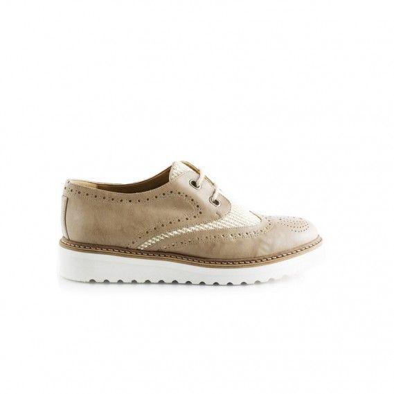 Rose Taupe Vegan Brogue Shoe