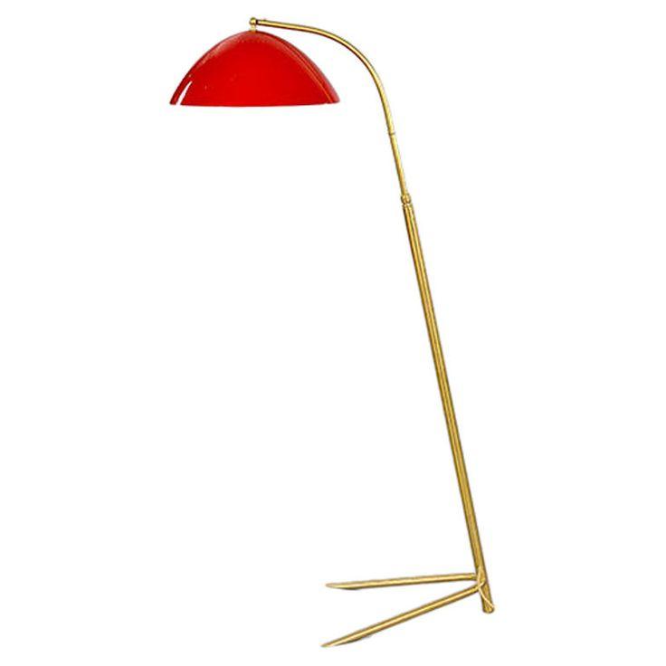 Stilnovo Style Standing Lamp with Downlighter, Italy, 1950s: 1950S Bedrooms, Stilnovo Style, Style Stands, Midcentury, 1950S Lights