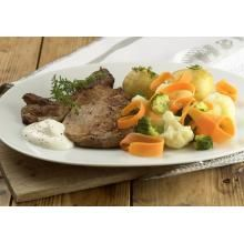 Koteletter med dampede grønnsaker | TINE.no