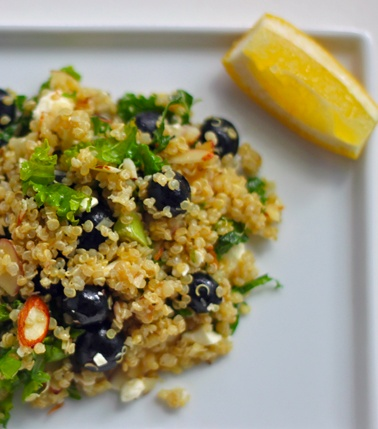 Blueberry, Kale, and Quinoa Salad | Greatist
