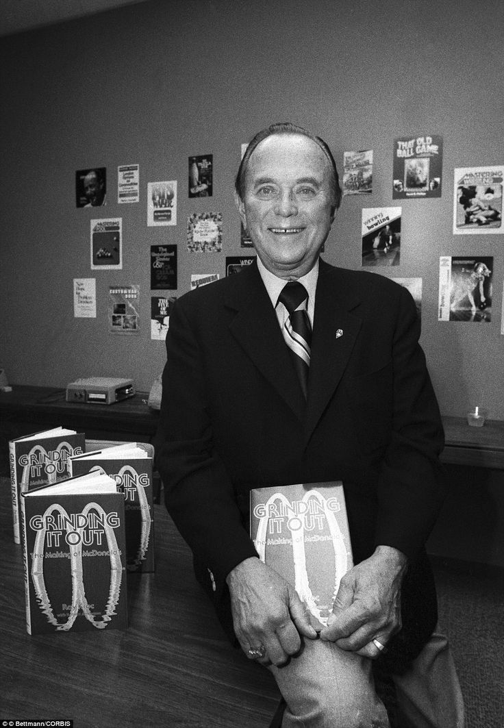 Ray Kroc (pictured in May 1977) eventually purchased the company from the McDonalds and took the helm at the fast food chain to turn it into the multibillion dollar empire that it is today - This Day in History: May 15, 1940: McDonald's opens its first restaurant http://dingeengoete.blogspot.com/