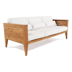 Craftsman Outdoor Deep Seating Teak Sofa - Westminster Teak Outdoor Furniture