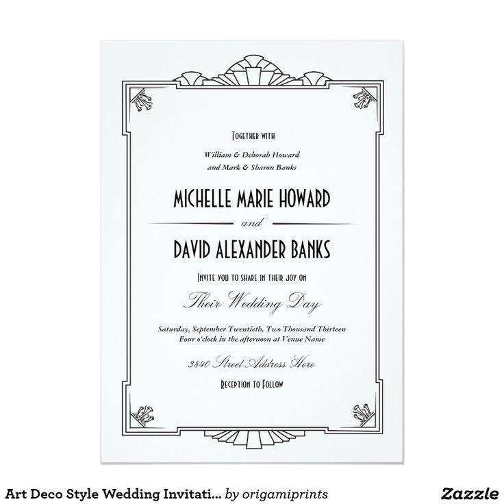 607 best Black and White Wedding Invitations images – Art Deco Wedding Invitations Uk