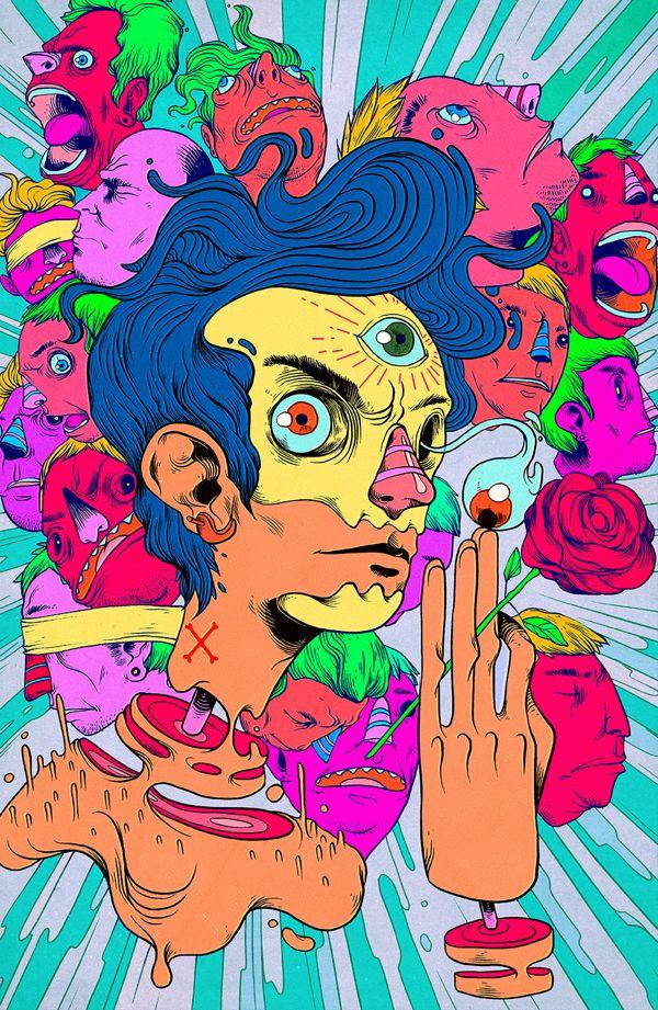 Illustrations 2013 by Raul Urias, via Behance