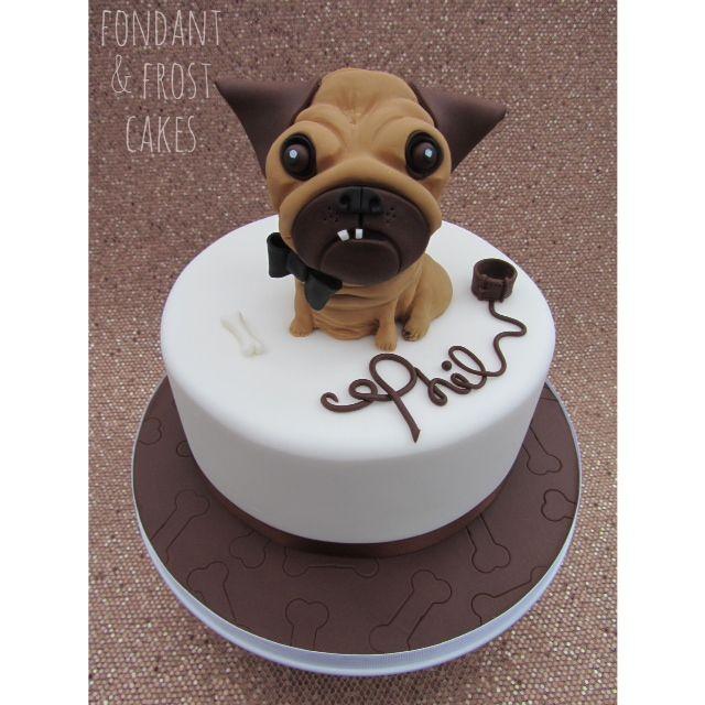 Pug Dog Cake Images : https://www.fondantandfrostcakes.com PUG cake! Ugly pug ...