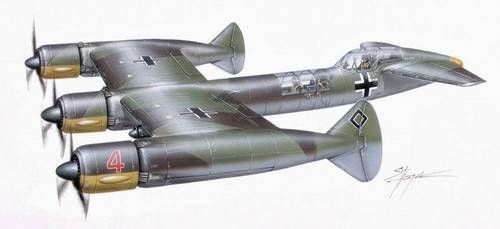 German - Blohm & Voss P 170 PLT115 - was a 3 Engine Fast Bomber Project - Eventually, Owing to Other War Related Priorities, as well as the New Possibilities Offered by the Development of Turbojets, the BV P.170 However did not go into Production (2)