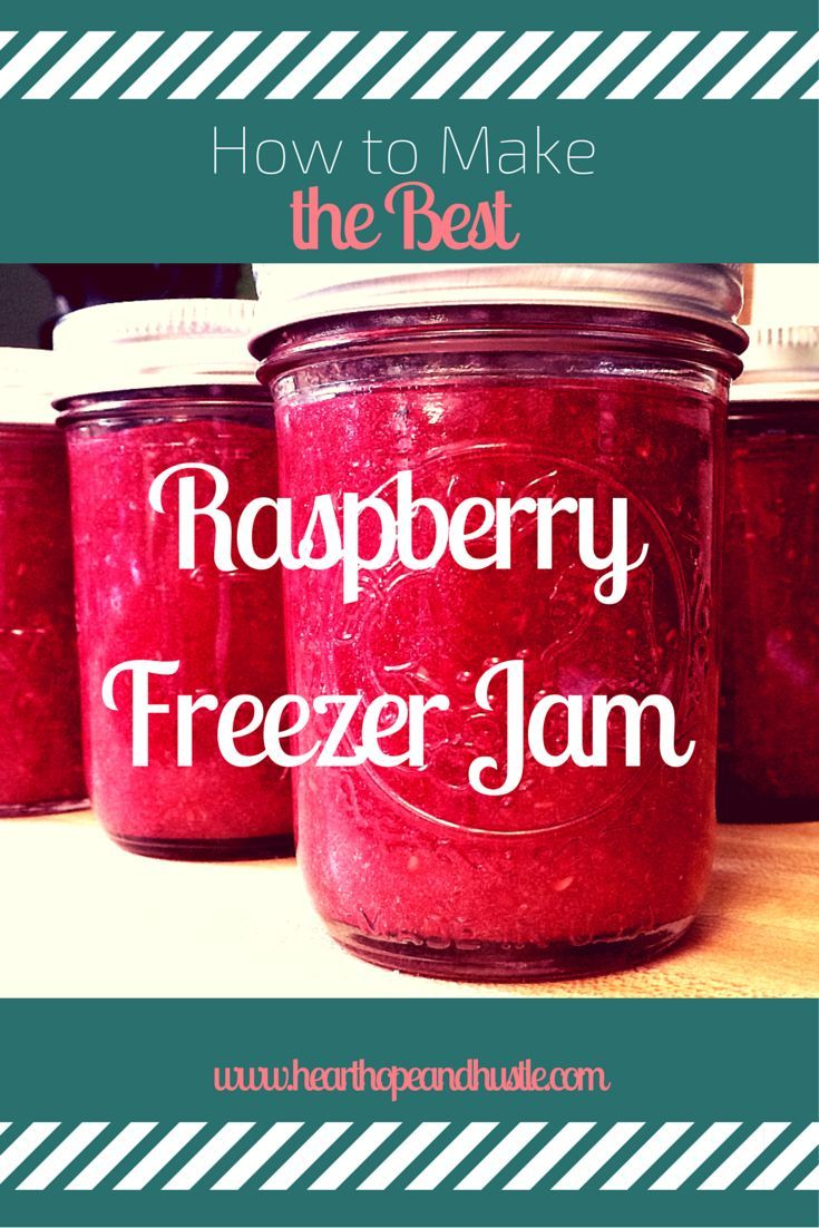 How to make the best raspberry freezer jam! This jam is super yummy and super simple!