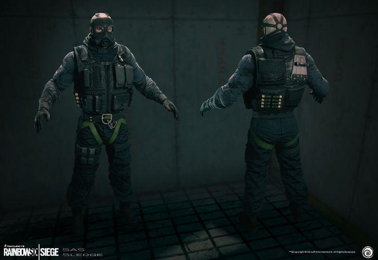 Soldier Video Games Rainbowsix Siege Digital Art Dark: ArtStation - Sledge