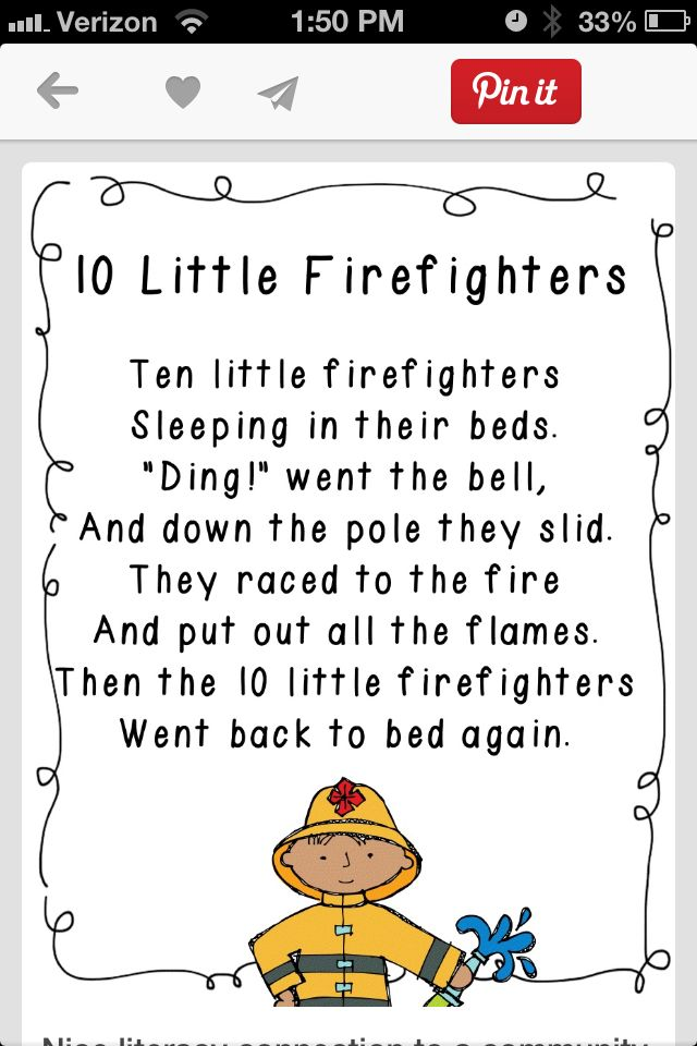 5 Little Firefighters