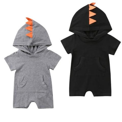 d0b6ad288 Newborn Kids Baby Boy Girl Dinosaur Pocket Romper Jumpsuit Clothes Outfits  Baby Clothing