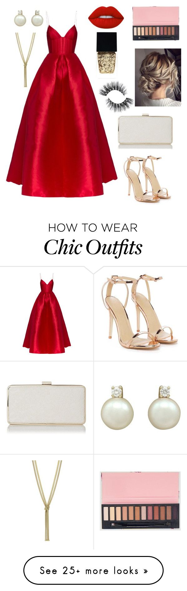 """""""Red carpet look"""" by turmangrace on Polyvore featuring Nasty Gal, Alex Perry, Lime Crime and Witchery"""