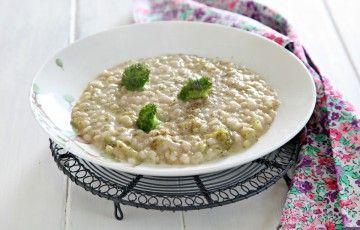 Orzotto cremoso ai broccoli