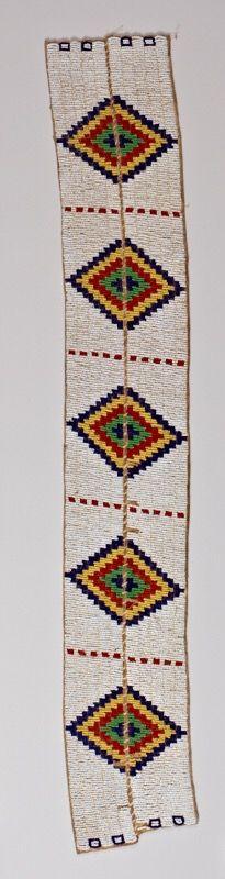 Полосы для леггинс, Сиу. Размеры  74 x 11.5 см. 20 век. Стэнфордский университет.