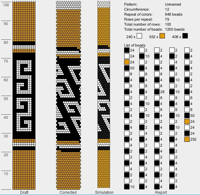 12 around bead crochet rope pattern