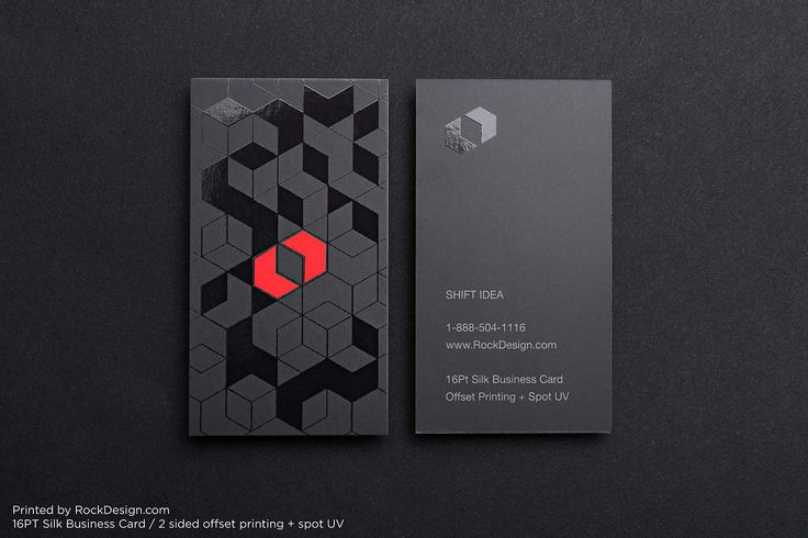 2 sided Spot UV Business Cards | RockDesign Luxury Business Card Printing