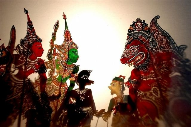 Wayang Kulit (shadow puppet).