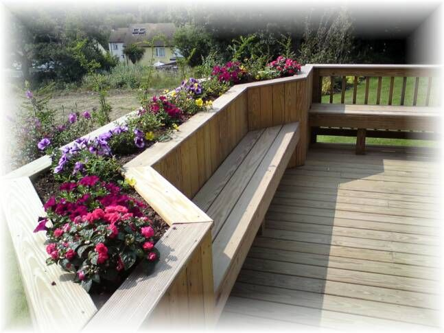 17 best images about deck on pinterest wood patio for Alternative planters