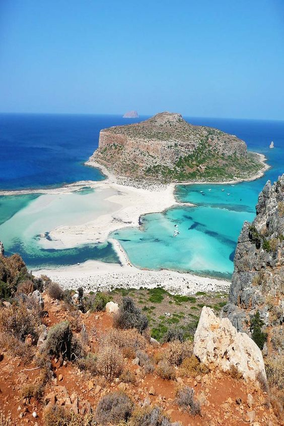 Balos Beach and Lagoon in Crete, Greece