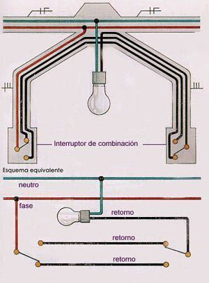 Как сделать два включателя в комнате свет, Выключатель, схема