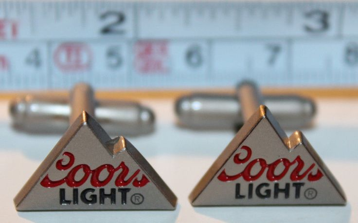 Coors Light Lager Beer Mens Cuff Links Cufflinks EUC Made of Metal