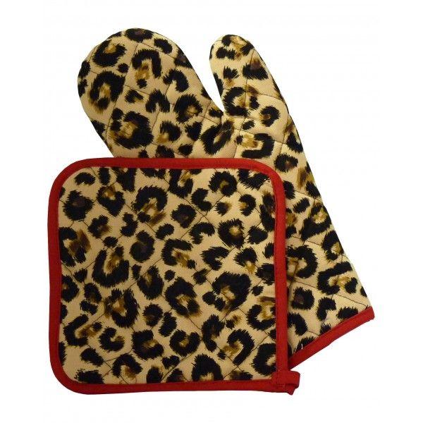 Leopard Print Pot Holder & Leopard Print Pot Holder & Mitt - Bitchin Kitchen