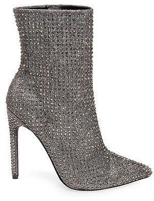 Steve Madden Rhinestone Wifey High Heel Ankle Boots #fashion #holidayheels #heels #stevemadden