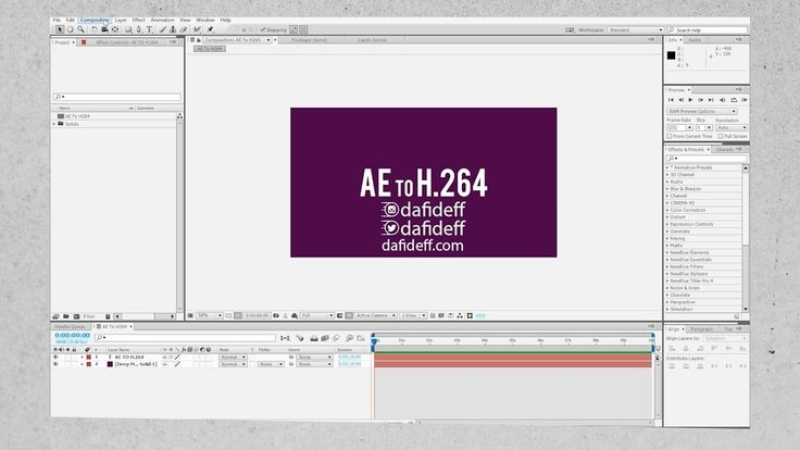 How To Export After Effects CC Project To H.264 File