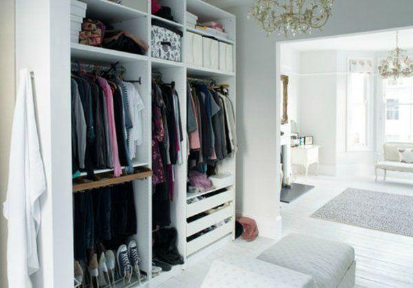 hell weiß Begehbarer Kleiderschrank planen konstruktionen