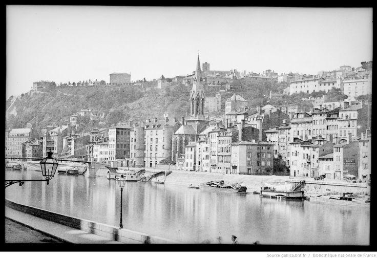 [Lyon, les bords de Saône vers l'église Saint-Georges] : [photographie négative] / [Paul Duseigneur]
