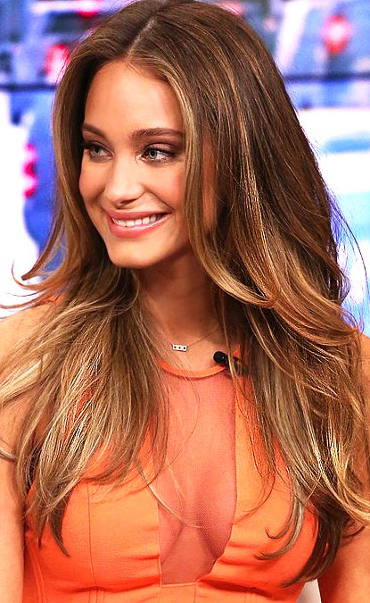Sports Illustrated Swimsuit cover model Hannah Davis in our Allison Joy Bar Necklace