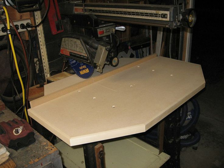 Craftsman Radial Arm Saw Table Dimensions