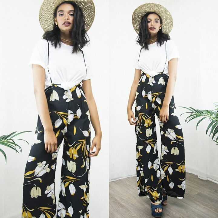 Monday slays in our Printed Wide Leg Suspender Pants. We  this look so much. Floral print  wide leg high waist goodness?? We're here for it  Shop the look via link in Bio