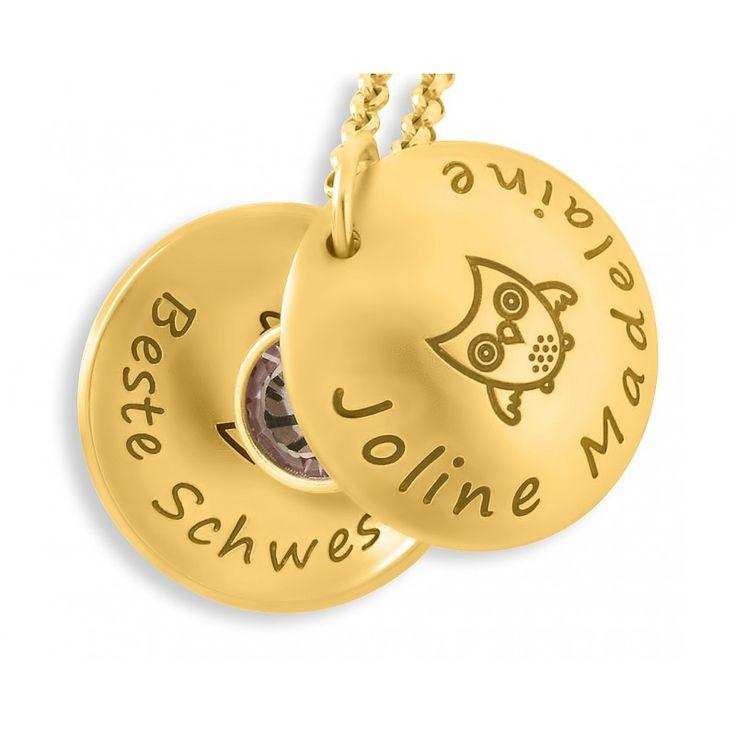 Wunderschönes Taufmedaillon aus 925er Sterling Silber. In dem Medaillon ist ein Geburtsstein randesigned. Das Medaillon wird mit Ihrem Wunschtext bze. Wunschnamen designed.