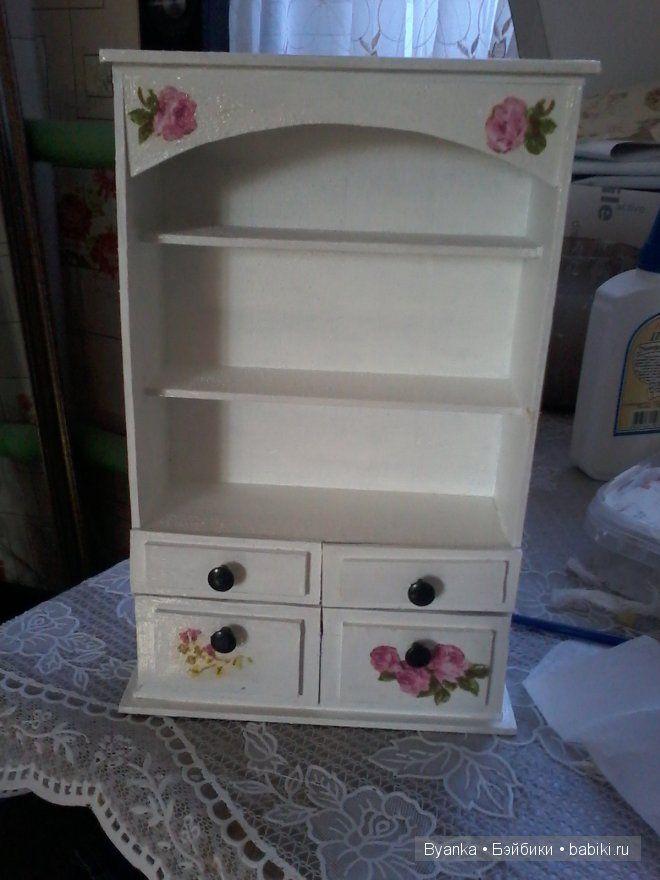 Шкафчик из деревянных линеек / Домики для кукол, мебель своими руками. Коляски, кроватки и другое / Бэйбики. Куклы фото. Одежда для кукол