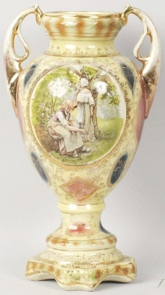 Crown Royal Derby Porcelain Vase.