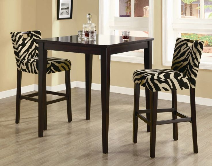 Zebra Upholstered Dining Room Chairs