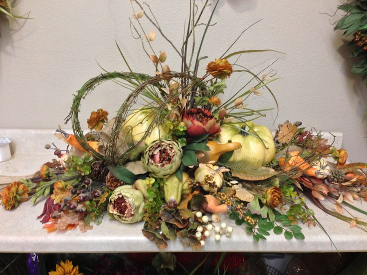 fall mantle arrangement photography -#main