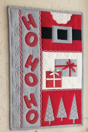 """Ho Ho Ho mini quilt pattern, 11 x 17"""",  Quilt and Sew Shop"""
