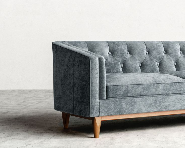 Scarlett Is A Mid Century Modern Inspired Sofa With Deep Tufting Large Upholstered Buttons And Fine Piping Reminiscent Of Opulent Classical Design